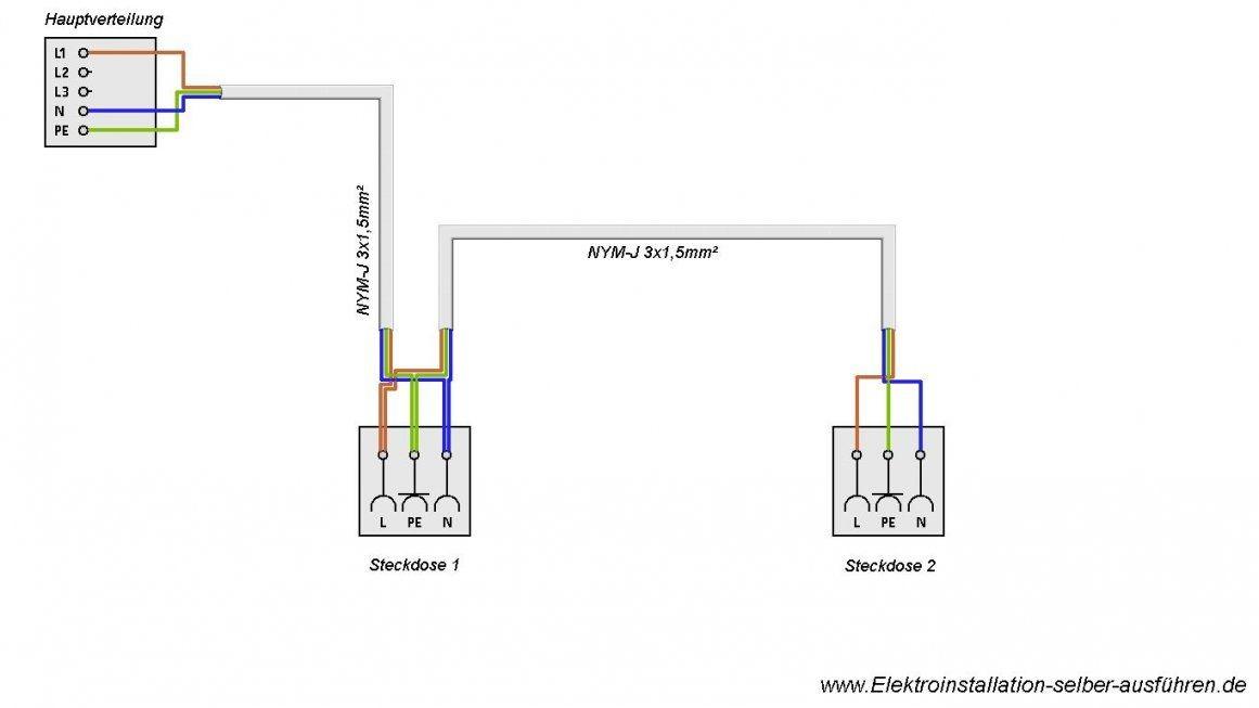 Schaltplan Zusätzliche 230V Steckdose Anschließen  Elektrische von Steckdose An Lichtschalter Anklemmen Photo