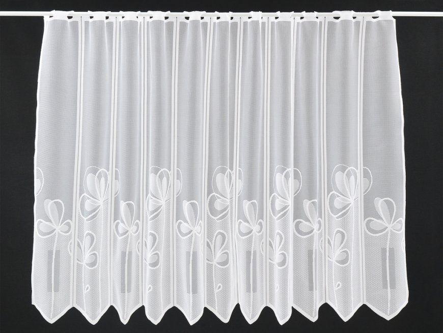 Scheibengardine Mit Großen Blumen Breite 29 Cm  Farbe Weiß  Höhe von Scheibengardinen 50 Cm Breit Photo