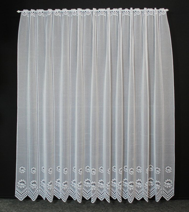 Scheibengardine Seerose 180X23 Weiß Gardine Nach Maß von Gardine 180 Cm Hoch Bild