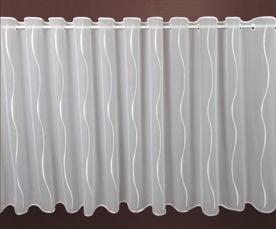 Scheibengardine Weiß Assos Höhe 80Cm  Scheibengardinen Meterware von Scheibengardinen 80 Cm Hoch Bild