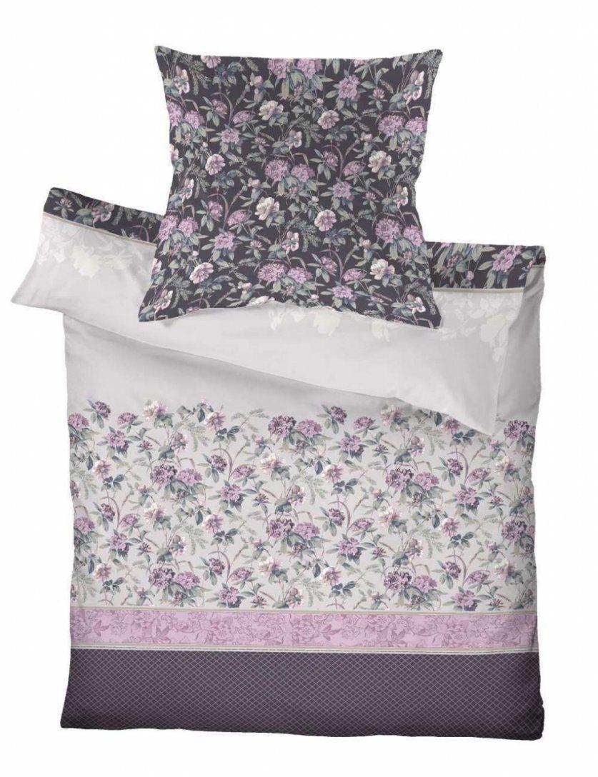 Schlafgut Baumwolle Bettwäsche Blumen Streifen Rosa Lila  Baumwolle von Bettwäsche Weiß Lila Photo