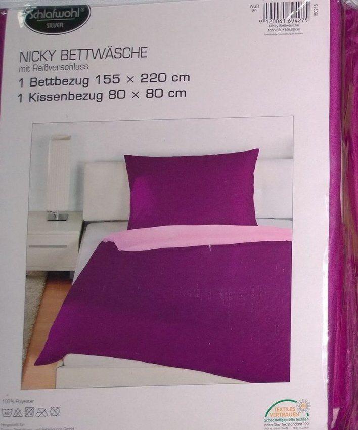 Schlafwohl Nicky Bettwäsche Set 2 Teilig 155X220Cm & 80X80Cm Lila von Nicky Bettwäsche 155X220 Bild