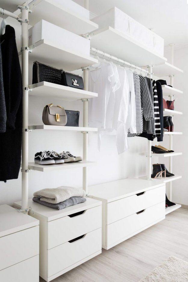 Schlafzimmer Begehbarer Kleiderschrank von Begehbarer Kleiderschrank Kleines Schlafzimmer Bild