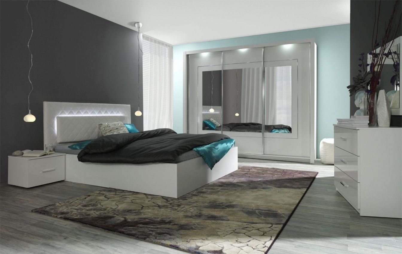 Schlafzimmer Komplett  Set D Psara 5Teilig Farbe Weiß Hochglanz von Schlafzimmer Komplett Hochglanz Weiss Bild