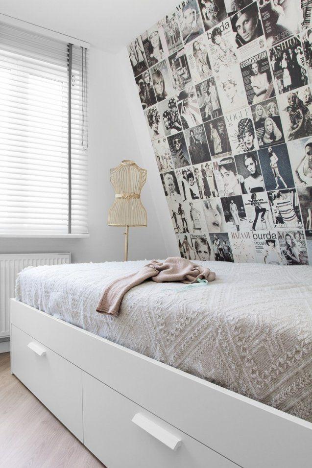 schlafzimmergestaltung mit dachschr ge zum wohlf hlen von fototapete f r schr ge w nde bild. Black Bedroom Furniture Sets. Home Design Ideas