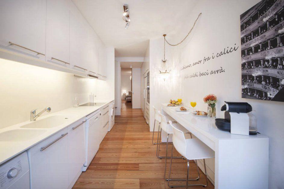 Schmale Kuche Essplatz Mit Esstisch Gestalten Kleine Ideen Modern von Schmale Küche Mit Essplatz Photo
