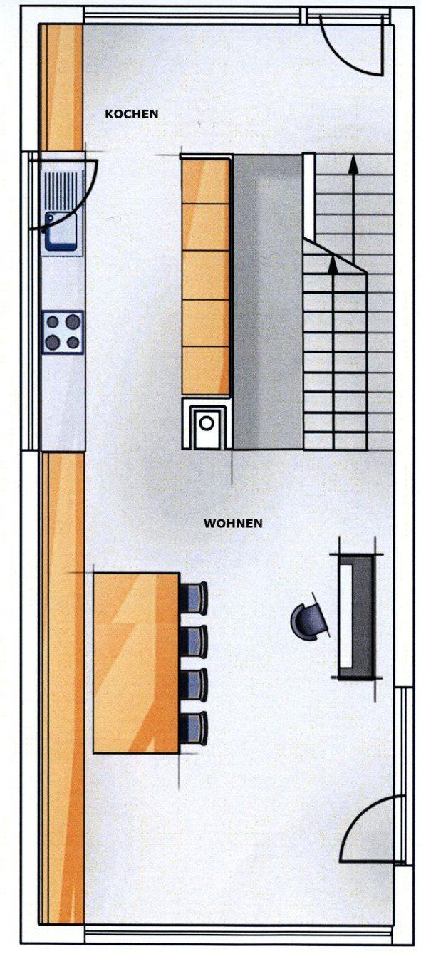 langes schmales haus grundriss haus design ideen. Black Bedroom Furniture Sets. Home Design Ideas