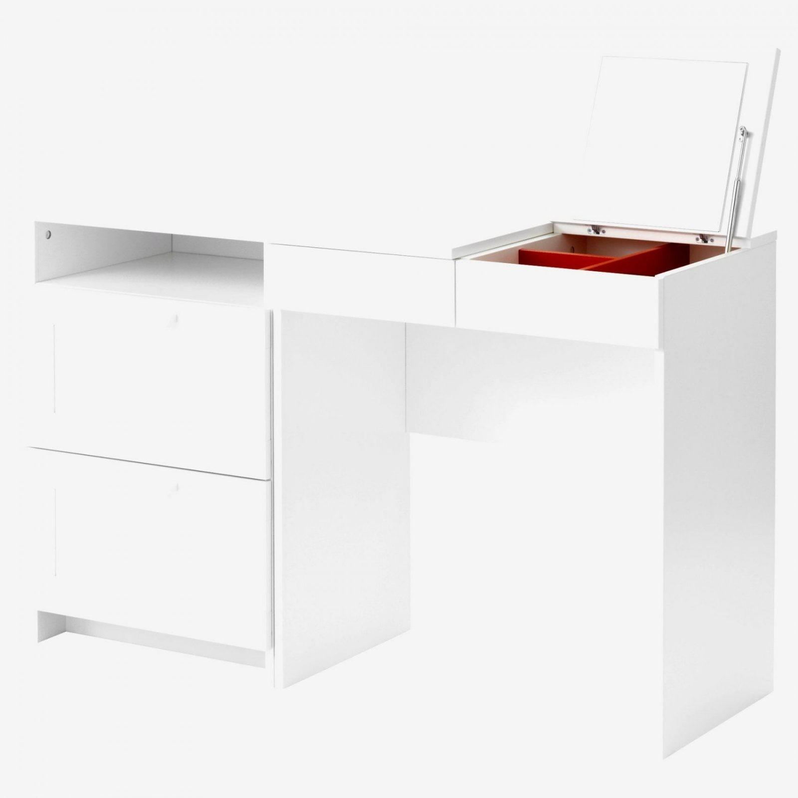 Schminktisch Weis Modern von Schminktisch Weiß Hochglanz Ikea Bild