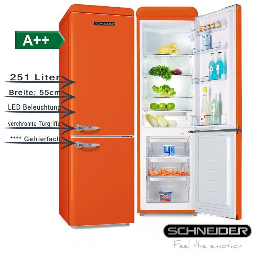 Schneider Retro Kühl Gefrierkombi Orange 251Liter A++ 55Cm Breit von Kühlschränke 55 Cm Breit Bild
