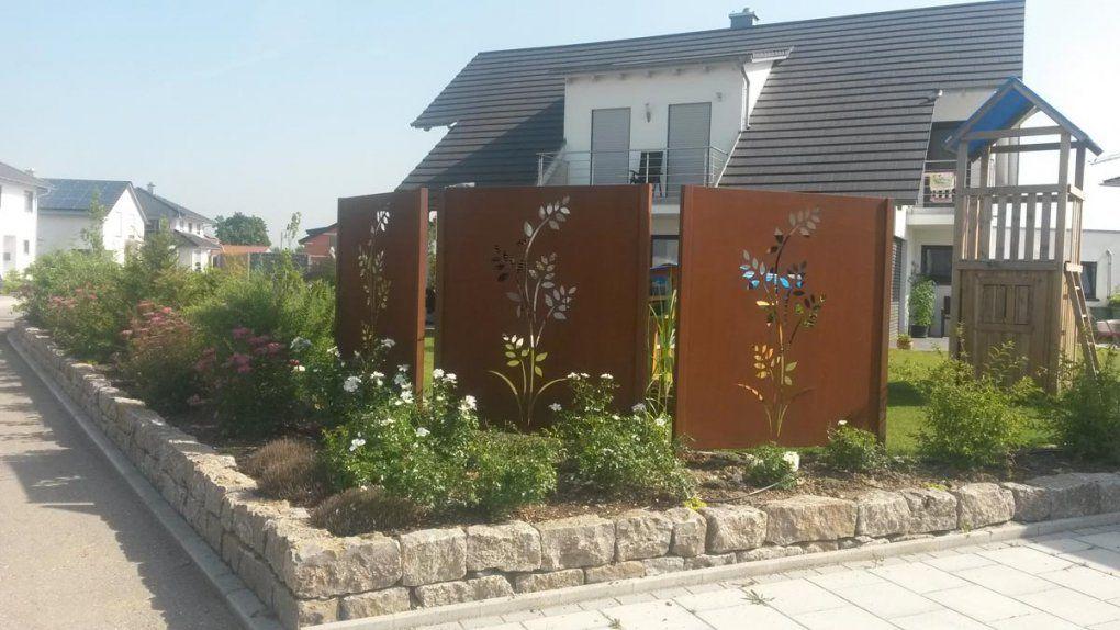 Schön Sichtschutz Garten Metall Rost Tur Mit Motiv Ganz Individuell von Sichtschutz Garten Metall Rost Bild