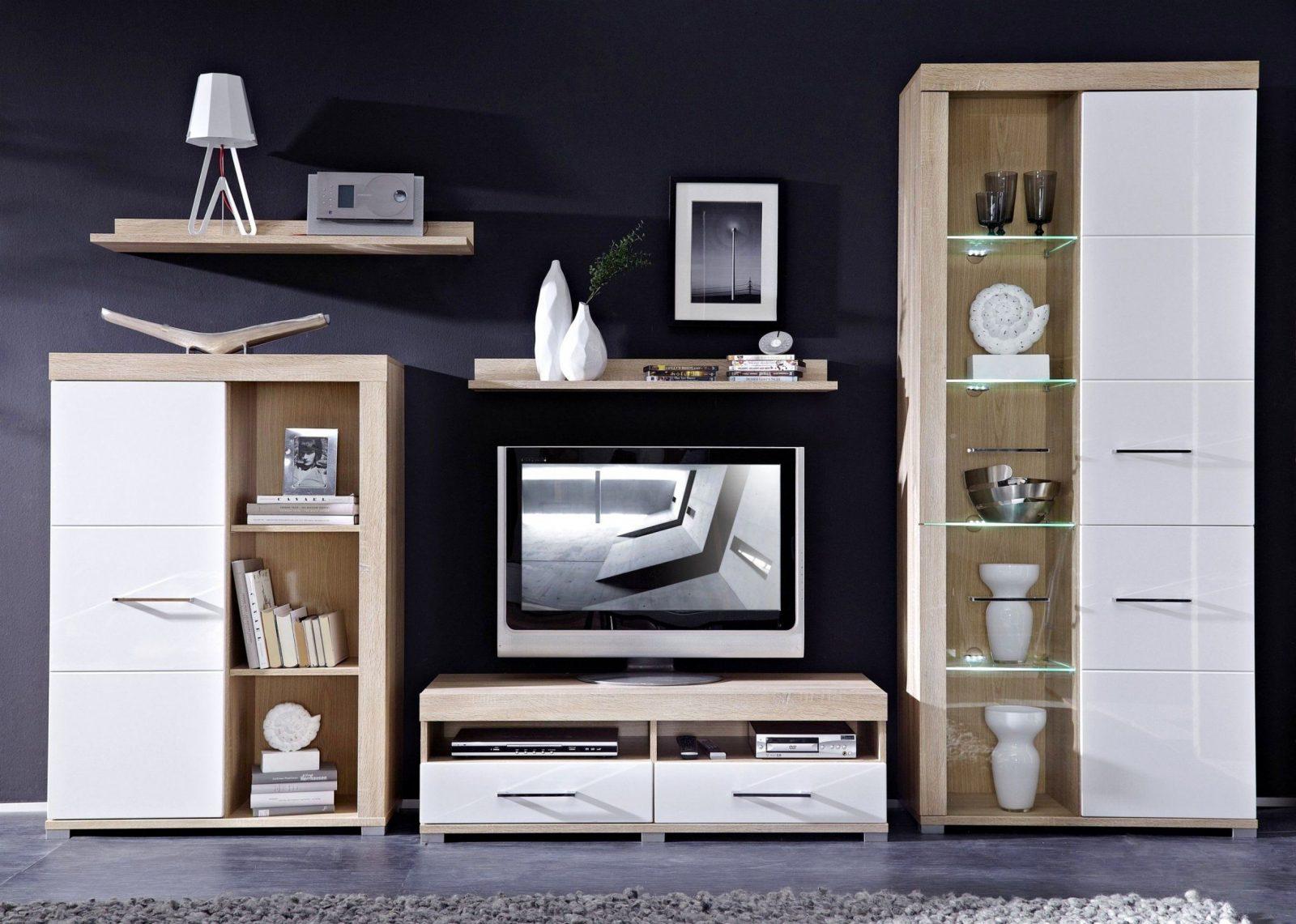 Schön Wohnwand Helles Holz Weiß Für Günstige Wohnwand  Wohnzimmer Ideen von Wohnwand Unter 100 Euro Photo