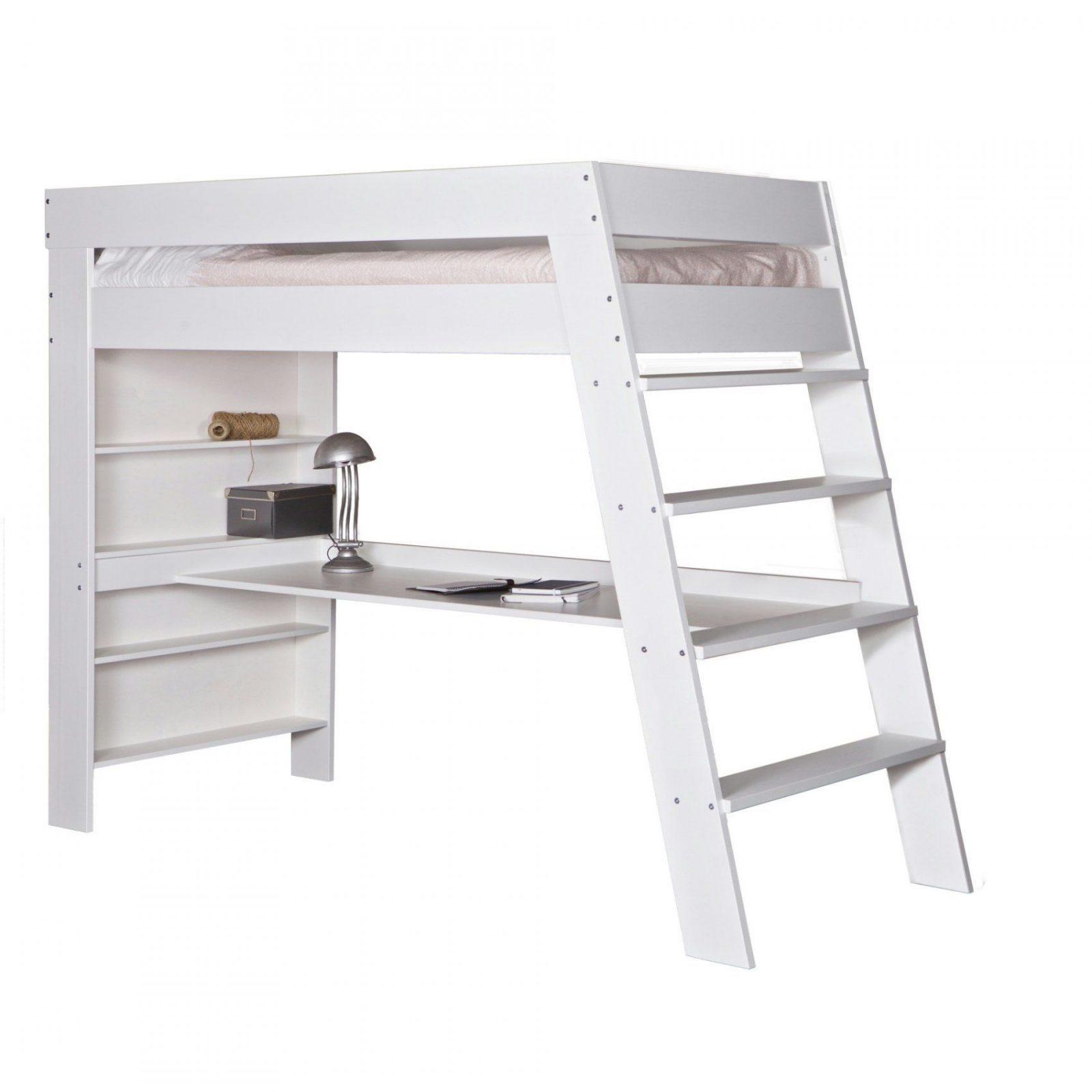 Schön Woood Hoogslaper Juli N 96X247X179 Cm Zum Hochbett Mit von Hochbett Mit Schreibtisch Ikea Bild