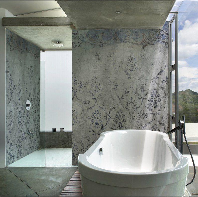 Schön Wunderbare Dekoration Badezimmer Tapete Wasserabweisend Die von Wasserabweisende Farbe Für Dusche Photo