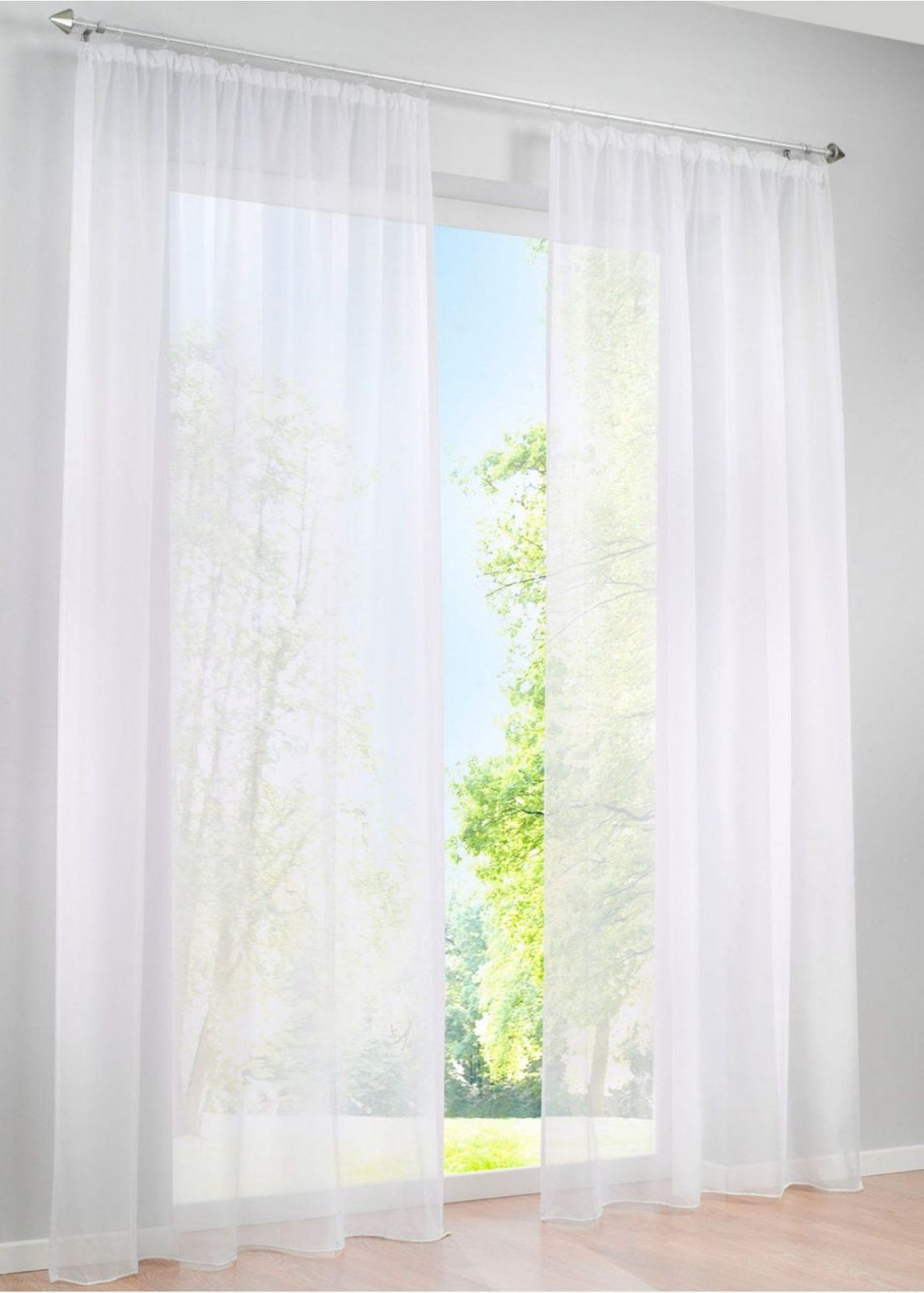 Schöne Aussichten Die Transparente Voilegardine Uni In Tollen von Gardine Weiß Transparent Kräuselband Bild