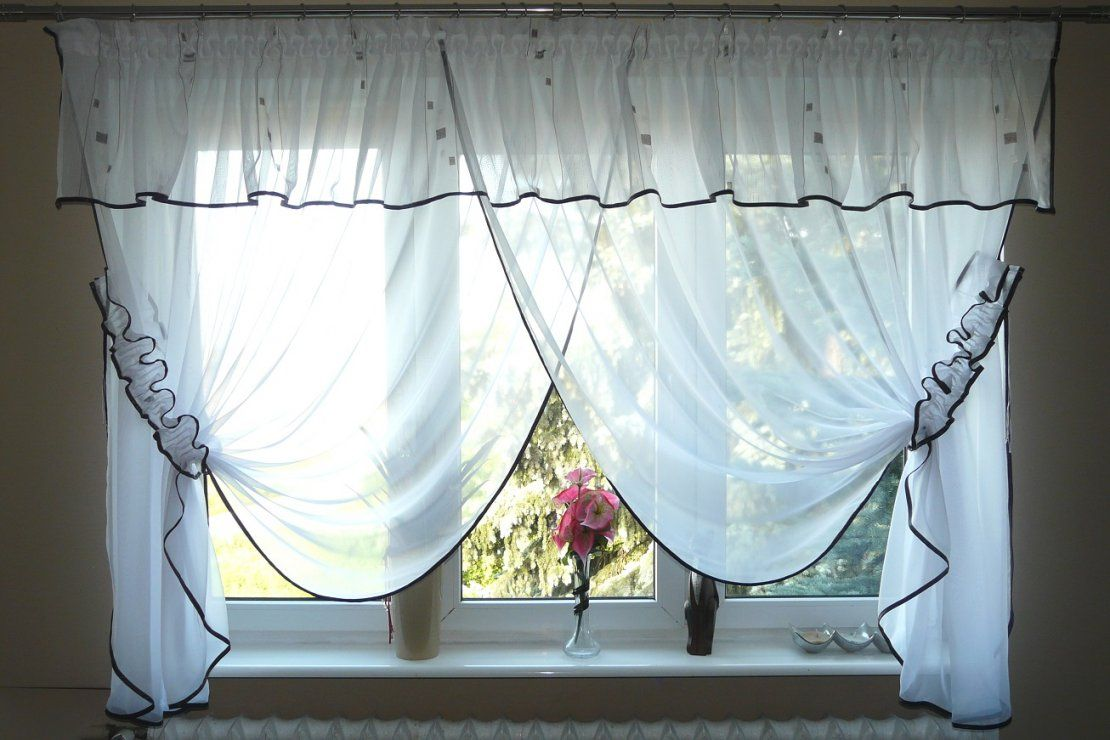 Schöne Fertiggardine Aus Voile Neu Gardine Gd6 Lambrequin Top Design von Gardinen Aus Polen Bild