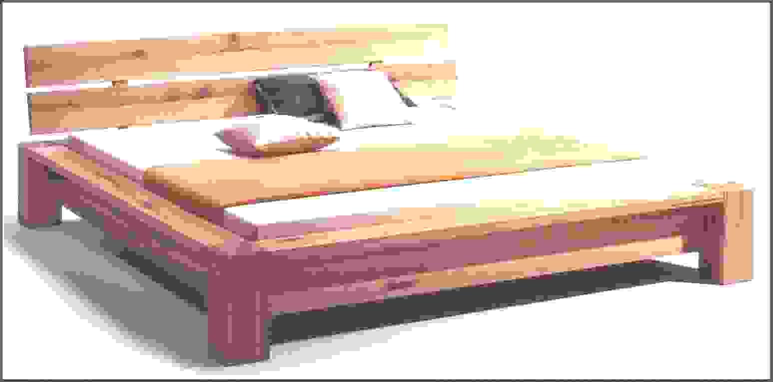 Schöne Inspiration Bett Aus Alten Balken Und Intelligente Selber Von von Bett Selber Bauen Balken Bild
