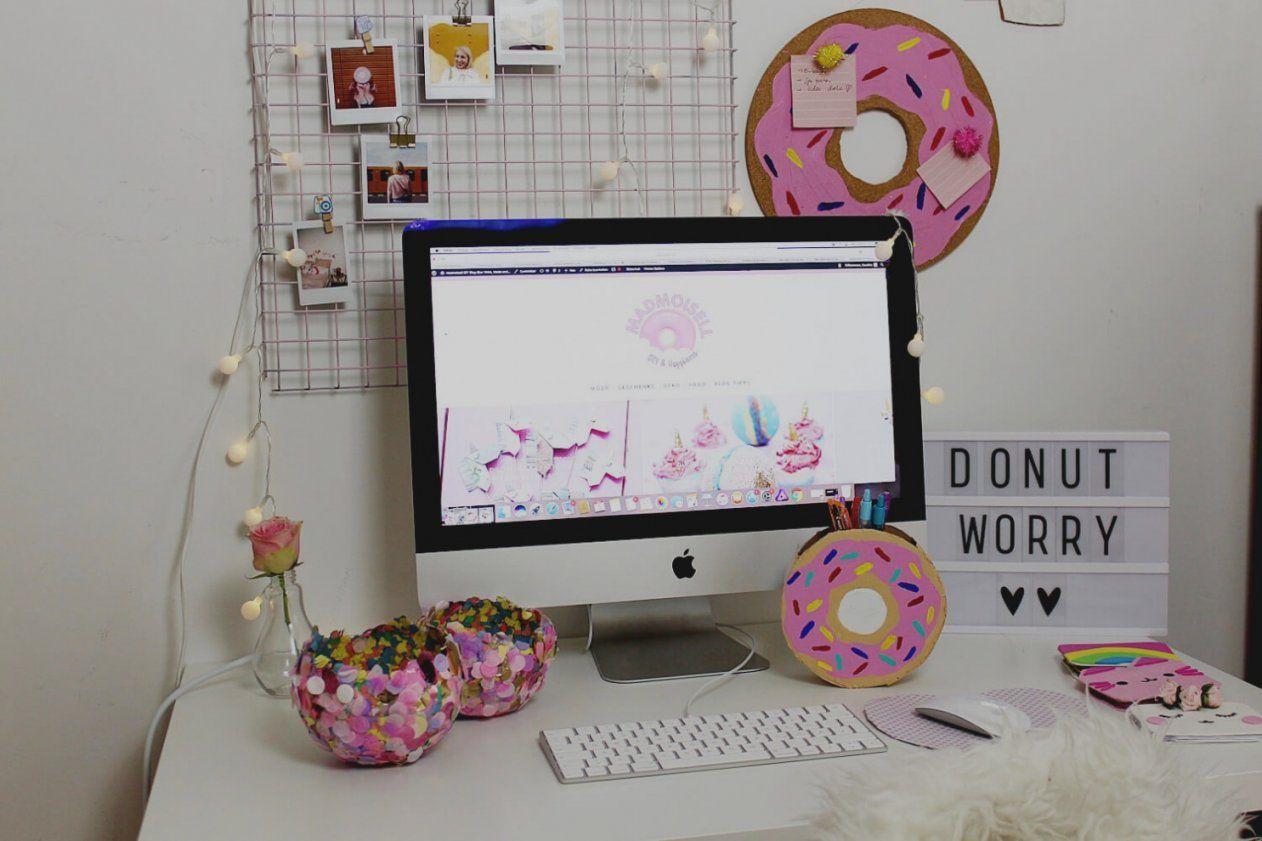 Schöne Schreibtisch Deko Und Arbeitszimmer Einrichten Ideen Fürs von Schreibtisch Deko Selber Machen Bild