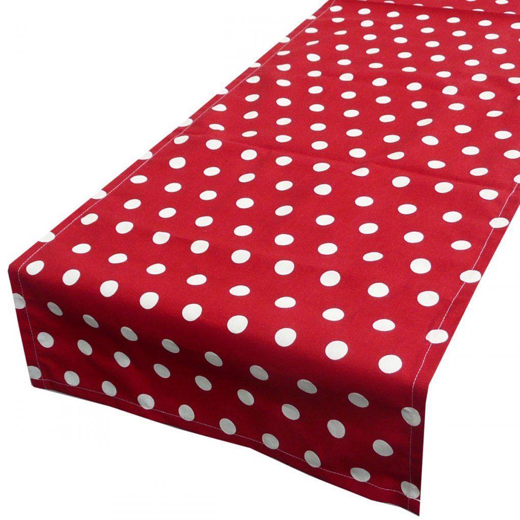 Schöner Leben Tischläufer Rot Weiß Punkte Groß 40X160Cm von Bettwäsche Rot Weiß Gepunktet Bild