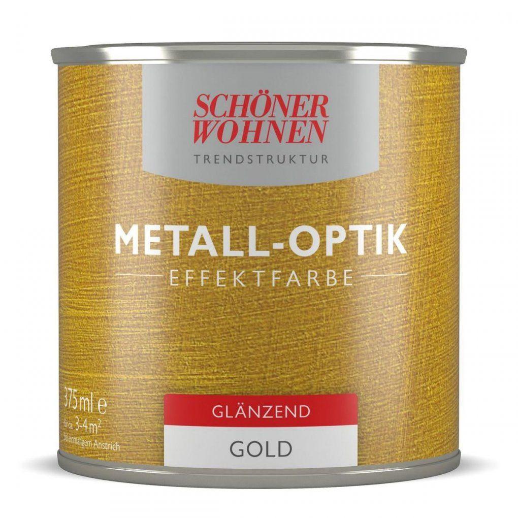 Schöner Wohnen Farbe Metalloptik Effektfarbe Gold Glänzend 375 Ml von Schöner Wohnen Metall Effekt Photo