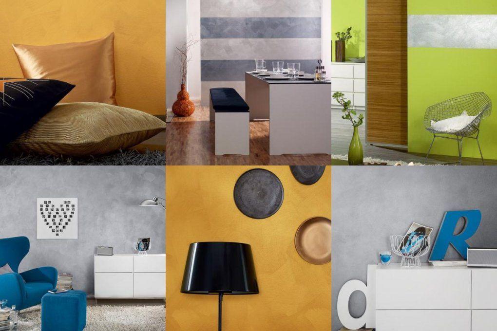 Schöner Wohnen Trendstruktur Effektfarbe Metalloptik Gold Glänzend von Schöner Wohnen Metall Effekt Bild
