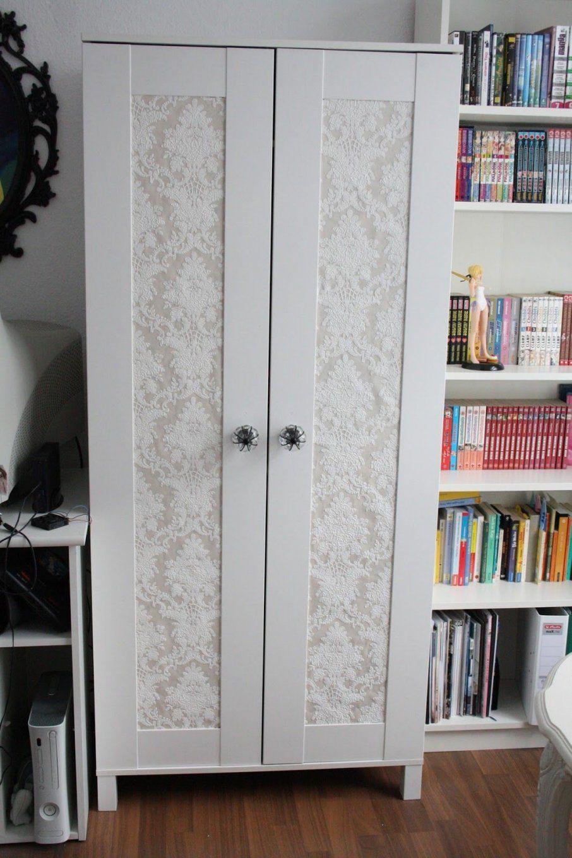 Schrank Kleiderschrank Tapete Barock Shabby Beige Bekleben Diy Do It von Schrank Tapezieren Kreative Ideen Photo