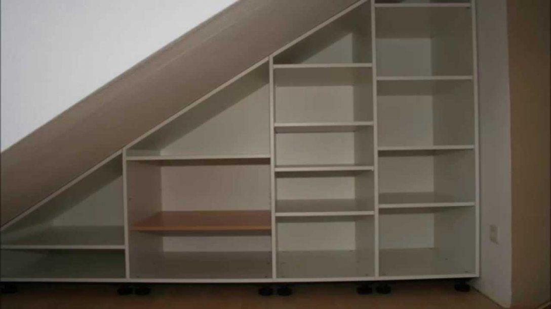 Schrank Unter Dachschräge  Youtube von Regal Für Dachschräge Ikea Bild