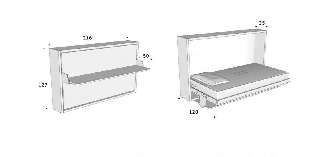 Schrankbett Kali 120 Board Direkt Beim Hersteller Kaufen von Schrankbett Mit Integriertem Schreibtisch Bild