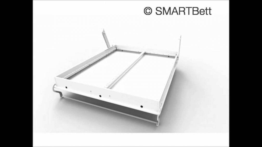 Schrankbett Klappbett Aufbauanleitung Smartbett 160X200  Youtube von Schrankbett Klappbett Selber Bauen Bild
