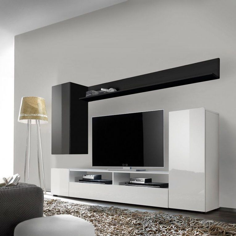 Schränke Online Günstig Kaufen Über Shop24At  Shop24 von Wohnwand Hochglanz Weiß Schwarz Bild