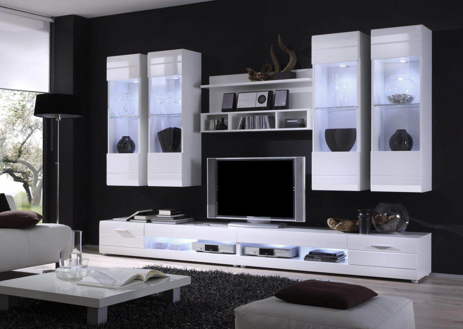 Elegant Schrankwand Weiß Hochglanz Furchterregend Auf Kreative Deko Ideen Von  Wohnwand Schrankwand Weiß Hochglanz Bild