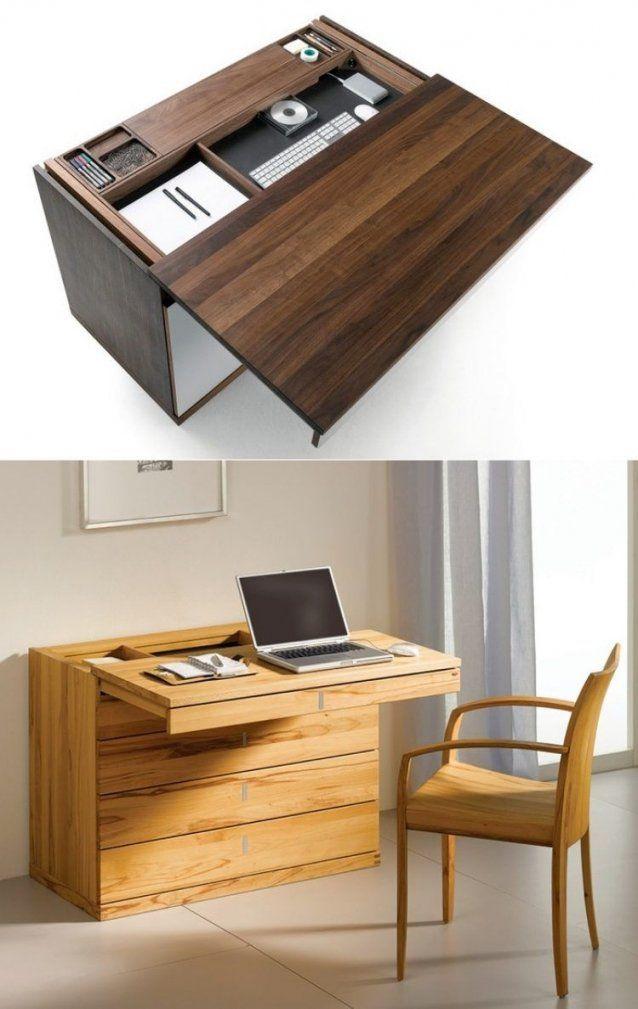 Schreibtisch Mit Schiebbarer Tischplatte Und Geheimfach  Holz von Designer Schreibtisch Selber Bauen Photo