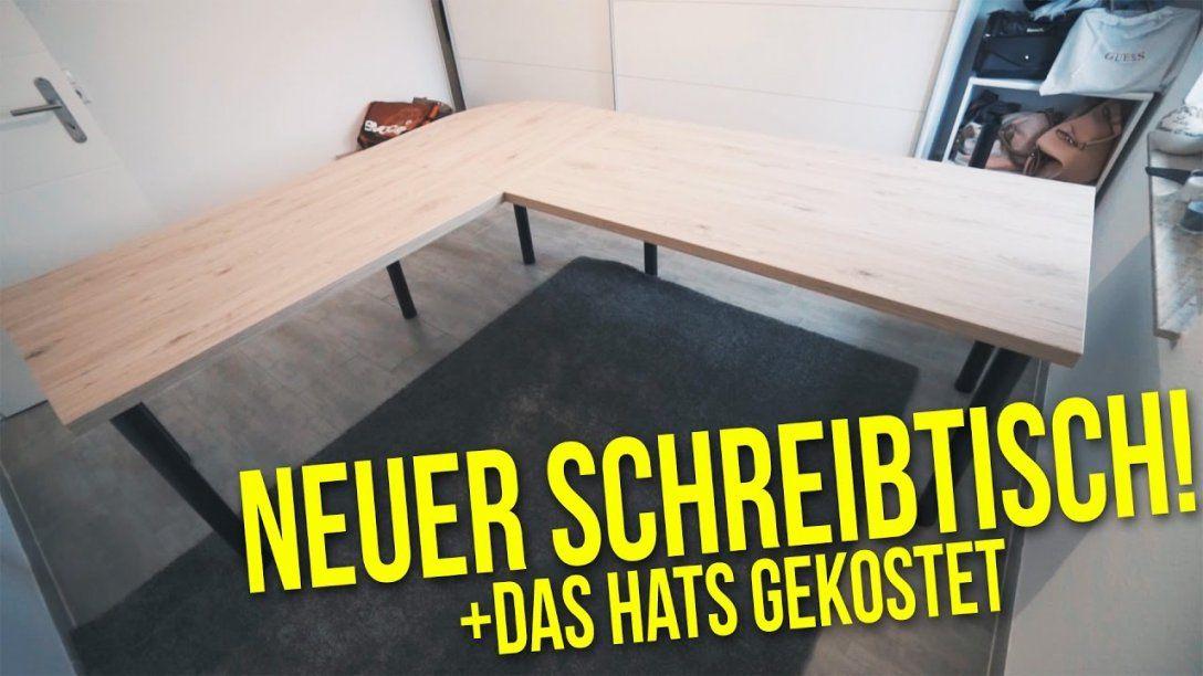 Schreibtisch Selber Bauen + Das Hats Gekostet  Projekt Diy Büro von Tisch Aus Arbeitsplatte Bauen Bild