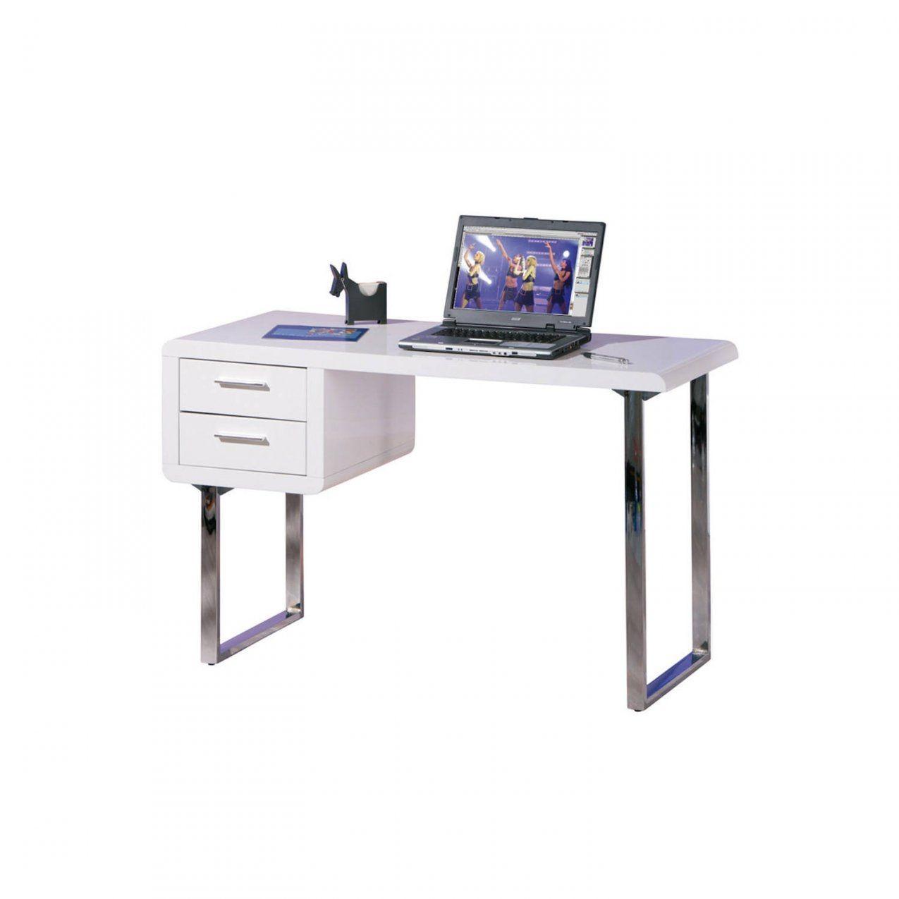 Schreibtisch Weiß Hochglanz Computertisch Pctisch Bürotisch 2 von Pc Tisch Weiss Hochglanz Bild