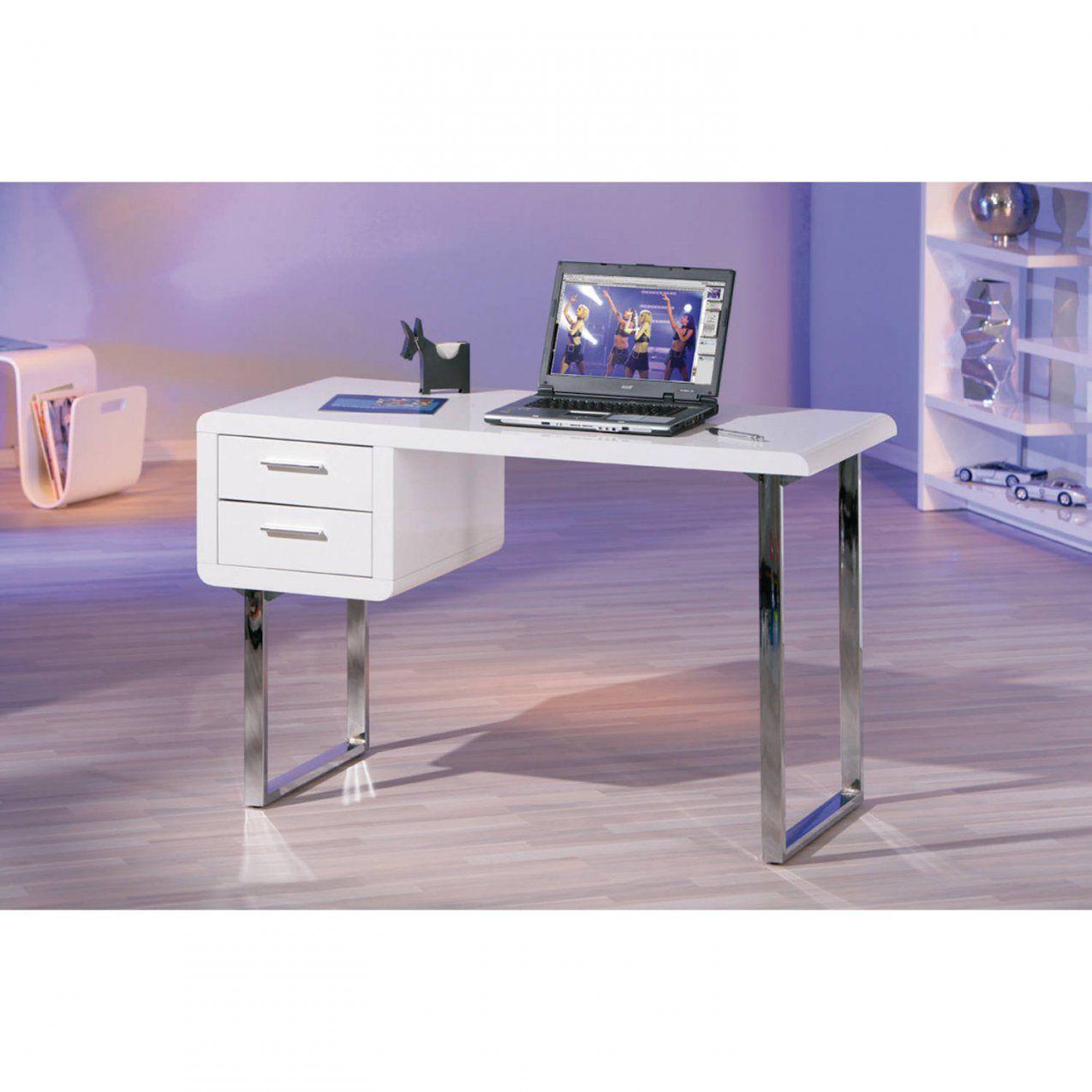 Schreibtisch Weiß Hochglanz Computertisch Pctisch Bürotisch 2 von Pc Tisch Weiss Hochglanz Photo