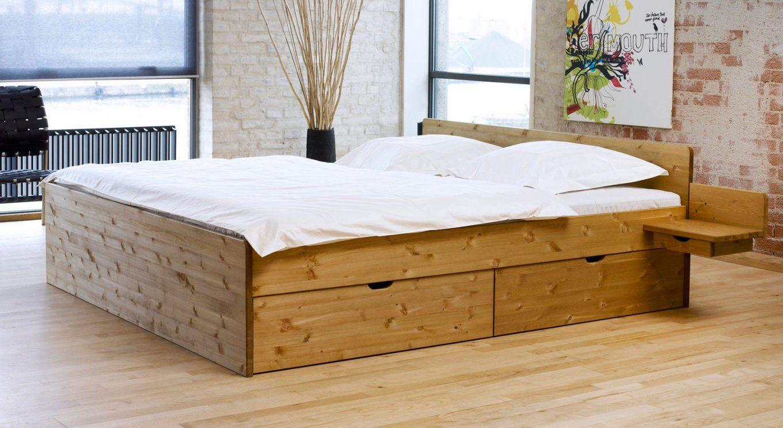 Schubkastendoppelbett Aus Buche Oder Kiefer  Bett Norwegen von Doppelbett Kiefer Massiv 180X200 Bild
