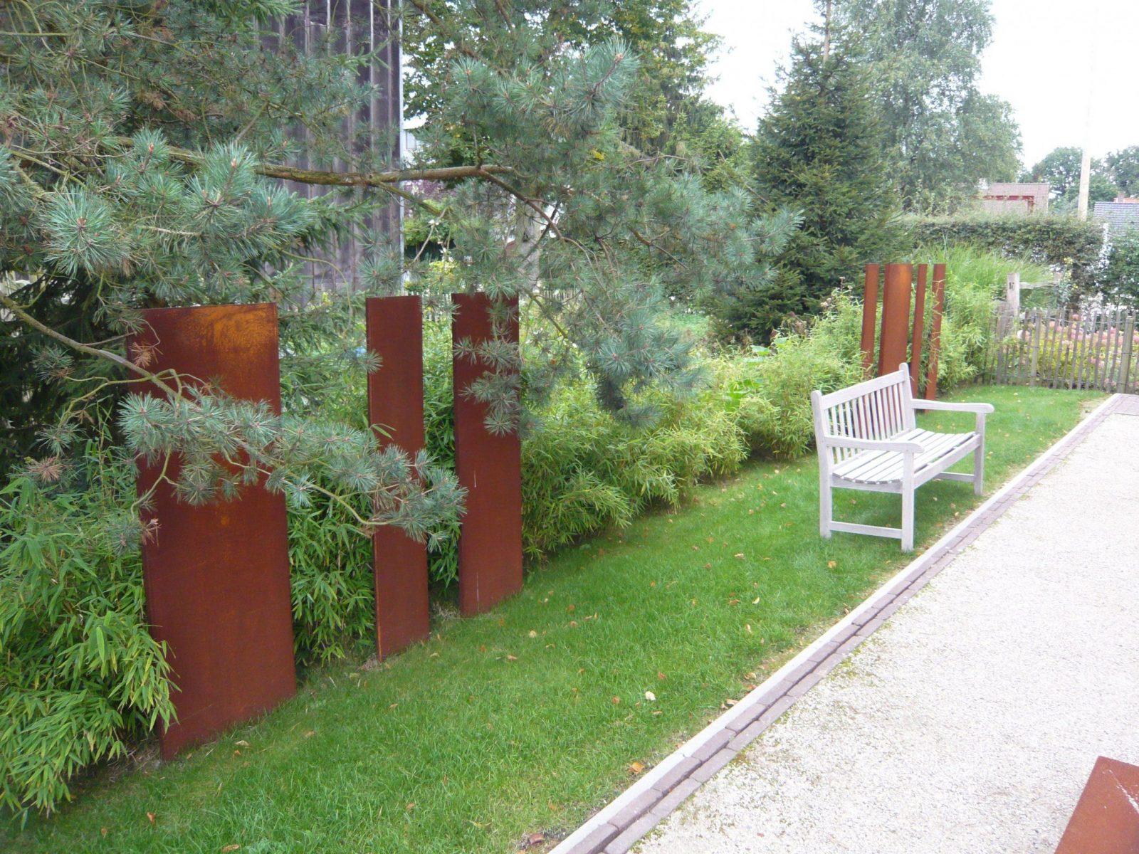 Schutting Cortenstaal  Planters  Pinterest  Sichtschutz Garten von Cortenstahl Sichtschutz Für Garten Photo