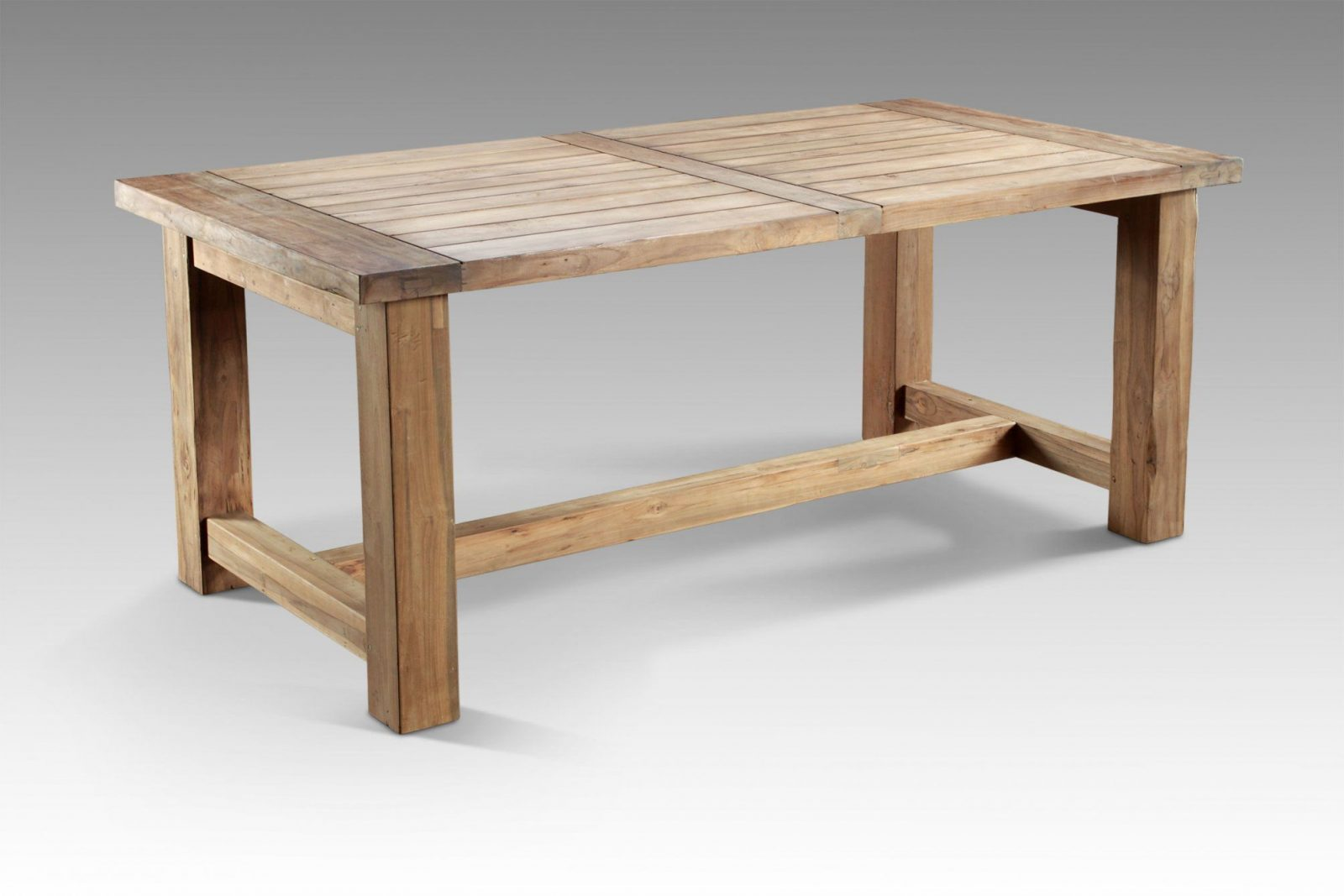 Schwarz Und Weiß Küchen Inspirationen Zum Gartentisch Holz Rustikal von Gartentisch Holz Rustikal Selber Bauen Bild