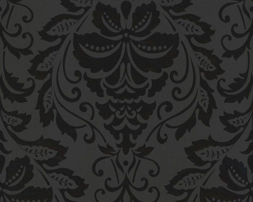 Schwarz Weiß Tapete Online Kaufen von Schwarze Tapete Mit Muster Bild