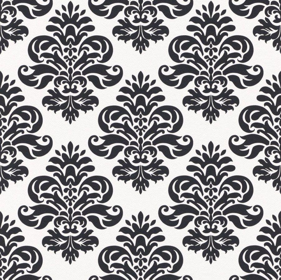 schwarz weise tapete mit muster von barock tapete schwarz weis photo - Weise Barock Tapete