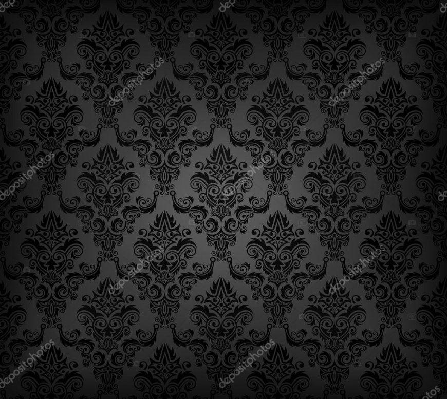 Schwarze Nahtlose Tapete Muster — Stockvektor © Vryabinina 7160969 von Schwarze Tapete Mit Muster Bild