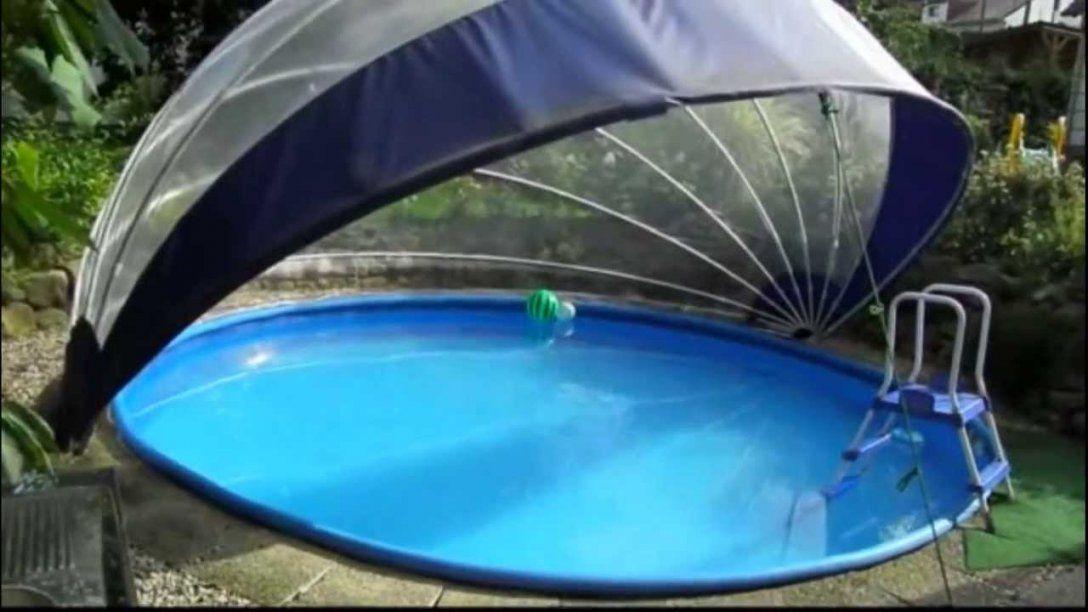 Schwimmbad Schwimmbecken Überdachung Für Rundpool  Tropiko  Youtube von Poolabdeckung Rund Selber Bauen Bild