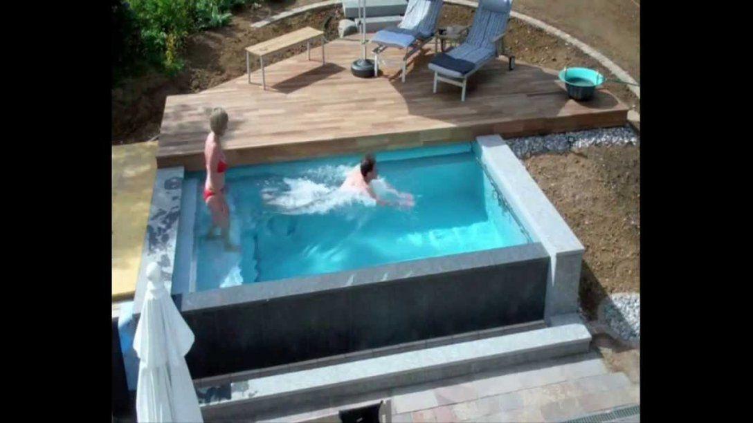 Schwimmbadbau  Dokumentation Eines Pool Im Garten  Im Zeitraffer von Kleiner Pool Im Garten Selber Bauen Bild