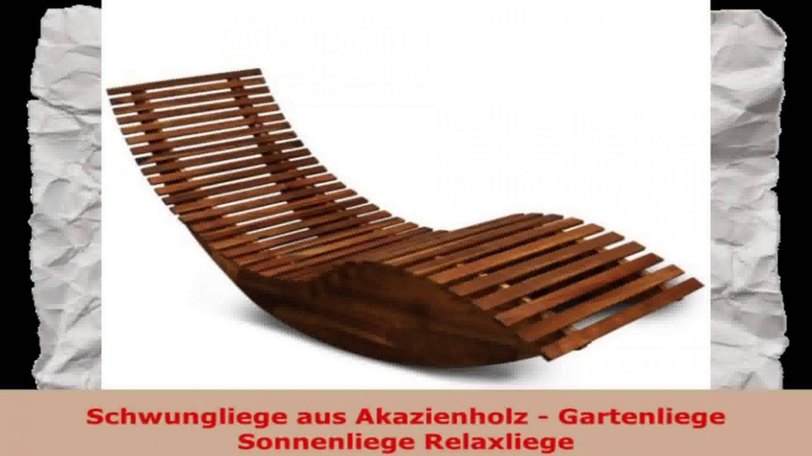 Schwungliege Aus Akazienholz Gartenliege Sonnenliege Relaxliege von Holz Gartenliege Selber Bauen Photo