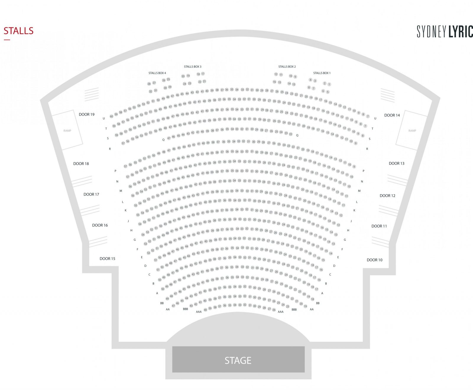 Seating Plan  Sydney Lyric Theatre von Lyric Opera Seating Chart Bild