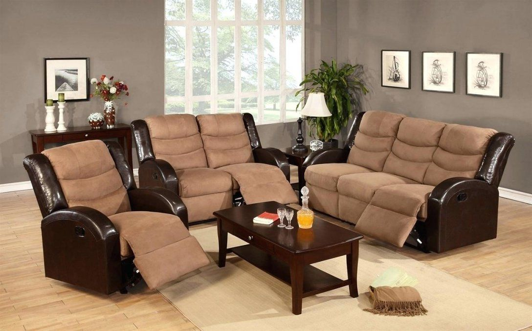 Seats Sofas Beige Micro Suede Love Seat And Sofa Set With Recliner von Seats And Sofas Angebote Photo