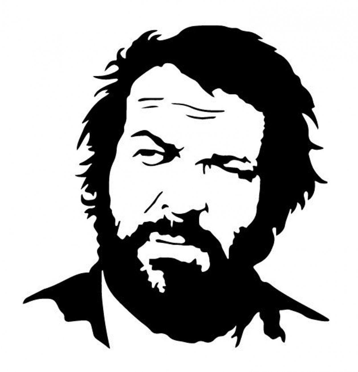 Second Hand Bud Spencer Sticker Aufkleber Fürs Auto Wand In 8280 von Bud Spencer Schwarz Weiß Bild