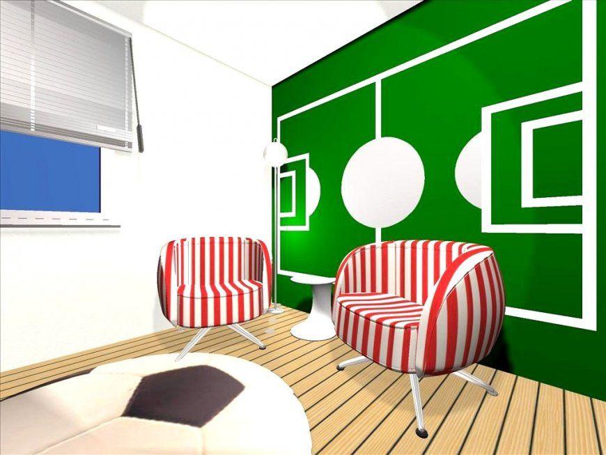 Sehr Gute Ideen Fussball Kinderzimmer Und Schöne Wand Gestalten Avec von Wand Mit Farbe Gestalten Photo