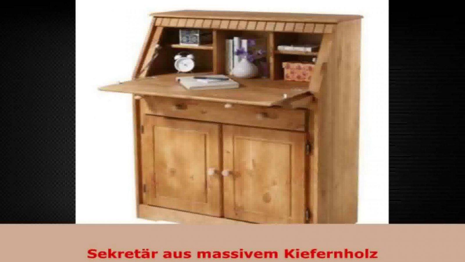 Sekretär Aus Massiver Kiefer Gelaugtgeölt Schreibtisch  Youtube von Sekretär Kiefer Gelaugt Geölt Bild