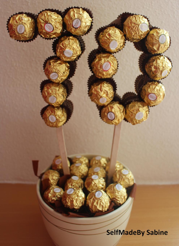 Selfmadeby Sabine Ferrero Rocher Geburtstagsüberraschung von Rocher Baum Selber Machen Photo
