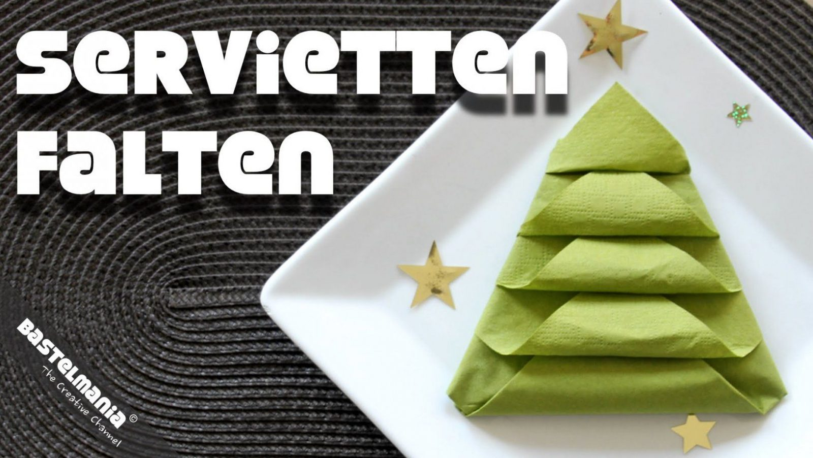 Servietten Falten Anleitung Tannenbaum Weihnachten Diy Napkin von Serviette Als Tannenbaum Falten Photo
